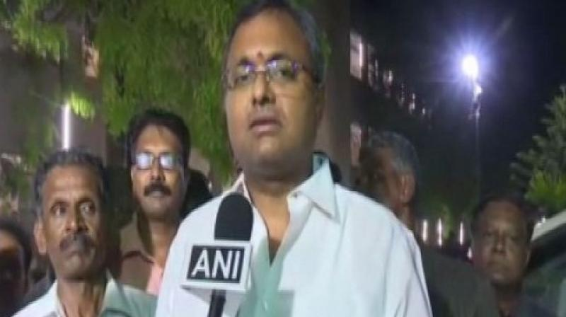 After former finance minister P Chidambaram was arrested by CBI on Wednesday night in connection with INX Media case, his son Karti Chidambaram on Thursday said they will fight this 'trumped-up and vindictive act' by a 'pliant agency' politically and legally. (Photo: File)