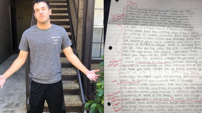 Guy shares exgirlfriends apology letter after grading it