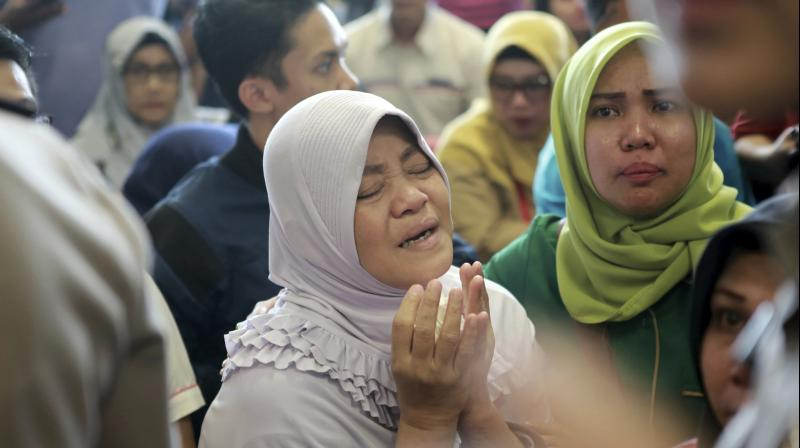 Distraught relatives of those on board arrived at the airport in Jakarta and Pangkal Pinang. (Photo: AP)