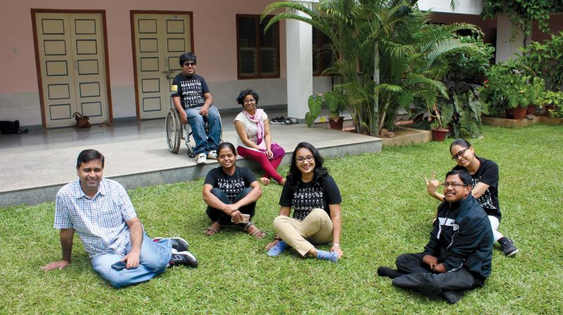 Youngsters volunteering with GiftAbled in training sessions with  differently-abled people (Image DC)