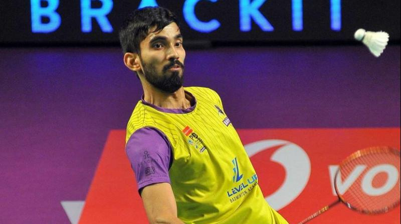 Kidambi Srikanth of Bangalore Raptors in action.