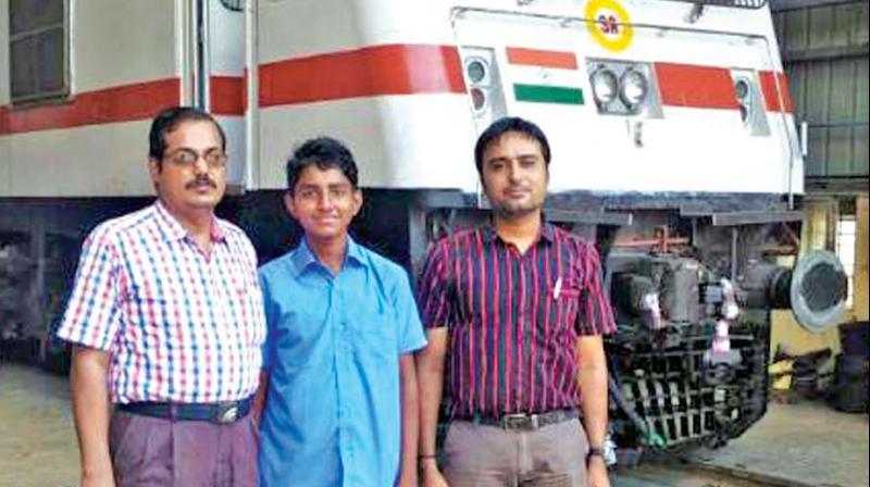 Kannan with railway officials at Royapuram.