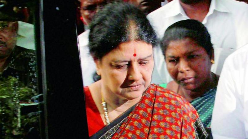 V K Sasikala had requested parole for 15 days to attend to her husband M Natarajan, who is critically ill. (Photo: File)