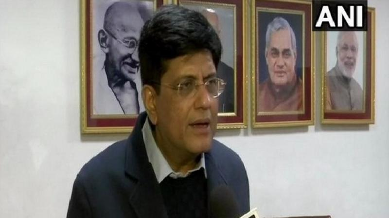 'Around 2.32 lakh vacancies are to be filled in the Railways as 1.32 lakh seats are presently vacant and 1 lakh employees will retire in two years. Last year, we started a mission to provide employment to 1.50 lakh people, which will be completed in the next two months,' Goyal said. (Photo: ANI)