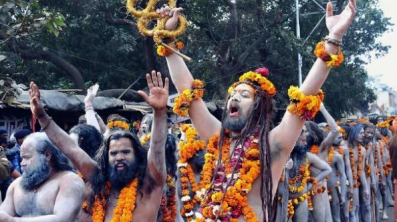 One of the Naga sadhus said that they had brought the blessings of Kasi Viswanath. No one, not even BJP leaders, knew much about them, even their names.