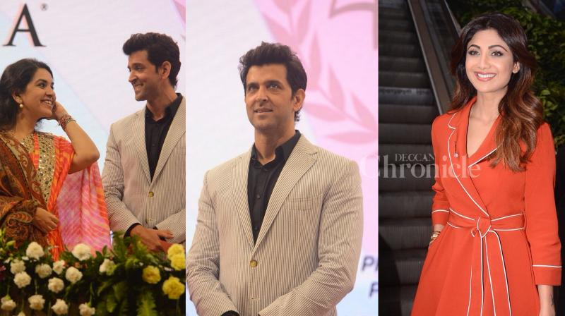 Bollywood superstar Hrithik Roshan was present at Giants event yesterday, Shilpa Shetty had a gala time during the event at the mall in Mumbai. (Photos: Viral Bhayani)