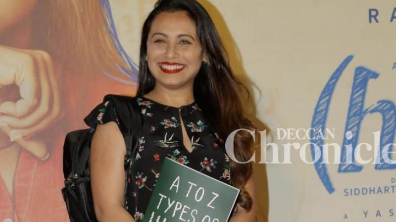 Rani Mukerji at the trailer launch of 'Hichki'.