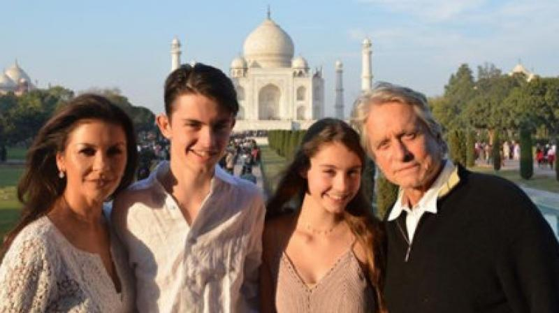 Catherine Zeta-Jones and Michael Douglas are in India, see photos