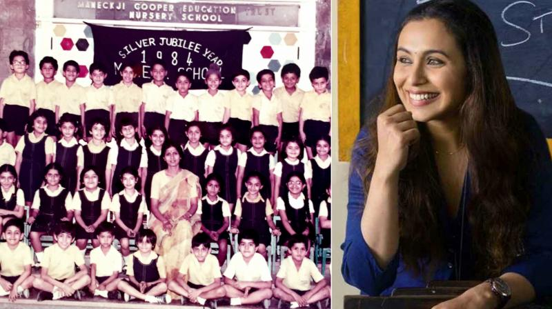 Rani Mukerji plays a school teacher in her upcoming film, Hichki. The actress shared an old picture from her school days.