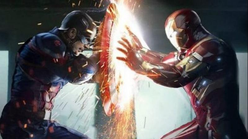 Iron Man and Captain America in 'Captain America: Civil War'.