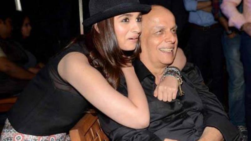 Alia Bhatt with her dad Mahesh Bhatt.