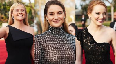 With actresses wearing black on the red carpet, the 75th Golden Globes Awards kicked off with a focus on sexual harassment instead of fashion. (Photo Credit: AP/Twitter- @goldenglobes)