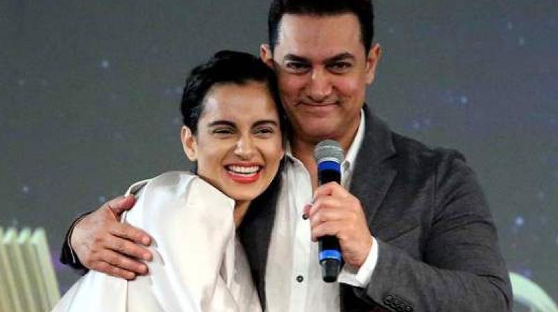 Kangana Ranaut and Aamir Khan.