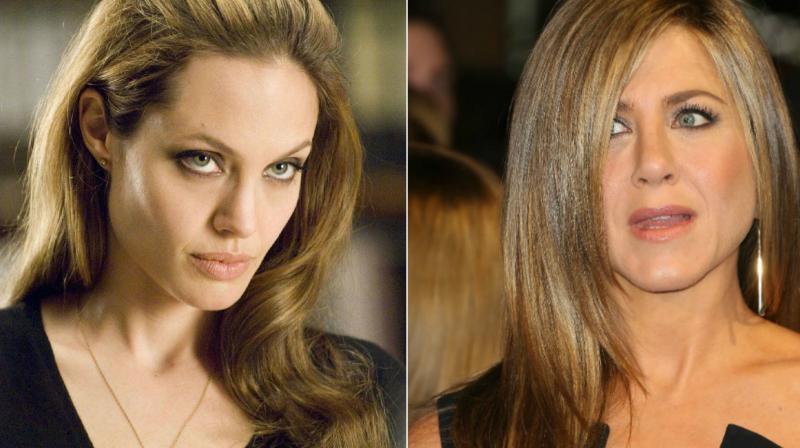 Angelina Jolie and Jennifer Aniston.
