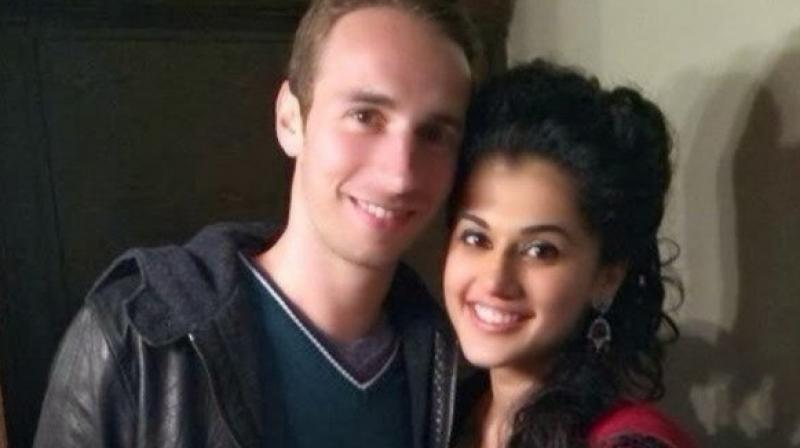 Taapsee Pannu and her alleged beau Mathias Boe.