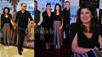 After 'Toilet: Ek Prem Katha', Akshay is excited about his next social drama 'PadMan'. The actor was in Delhi to promote his film along with Arunachalam Muruganantham. His wife and producer Twinkle Khanna, co-star Radhika Apte were also present at the event. (Photos: Viral Bhayani)