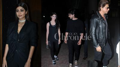 SRK, Shilpa Shetty, Loveratri couple Ayush Sharma-Warina, Varun Dhawan and other B-town celebs snapped at airport and the events in the city. (Photos: Viral Bhayani)