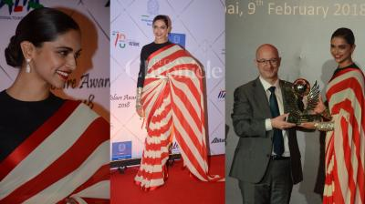 Deepika Padukone, Imtiaz Ali and AR Rahman attended Volare Awards at JW Marriot Juhu yesterday. (Photos: Viral Bhayani)
