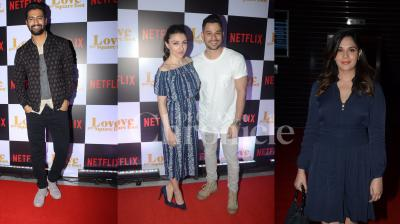 Richa Chadha, Soha Ali Khan and husband Kunal Kemmu, Ratna Pathak Shah attended special screening of Vicky Kaushal starrer web series 'Love Per Sqare Foot'. (Photos: Viral Bhayani)