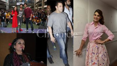 Salman Khan, Jacqueline Fernandez, Shabana Azmi, Shraddha Kapoor, Nushrat Bharucha, Kartik Aaryan, Sunny Singh were spotted at different spots in the city. See exclusive of these Bollywood stars here. (Photos: Viral Bhayani)