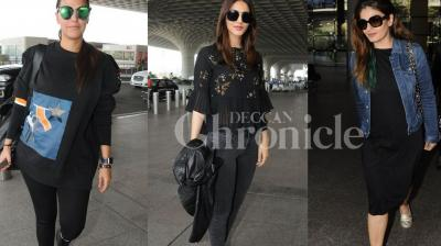 Checkout exclusive pictures of Bollywood beauties Vaani Kapoor, Raveen Tondon, Neha Dhupia at the airport. (Photos: Viral Bhayani)
