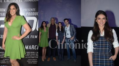 The first trailer of Sudhir Mishra's Daas Dev is out. The trailer launch was attended by star cast of the film Richa Chadha, Rahul Bhat, Aditi Rao Hydari and also other B-town celebs. (Photos: Viral Bhayani)