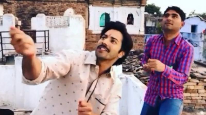 Varun Dhawan in the Instagram video.