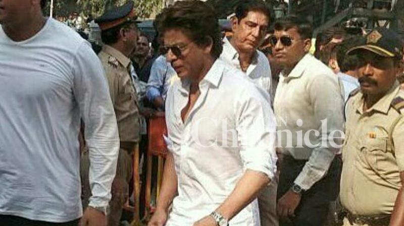 Shah Rukh Khan pays homage to Sridevi.