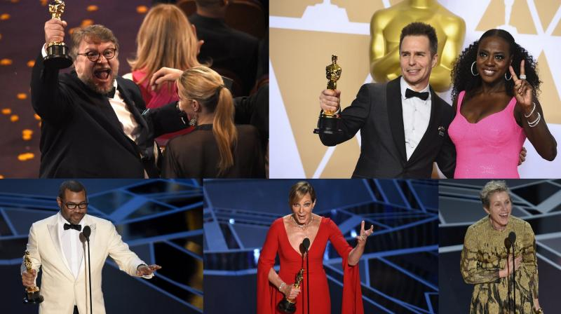 Jimmy Kimmel hosted the 90th annual Academy Awards. We present you the joyous moments of winners from Hollywood's big night. (Courtesy: AP Photos)