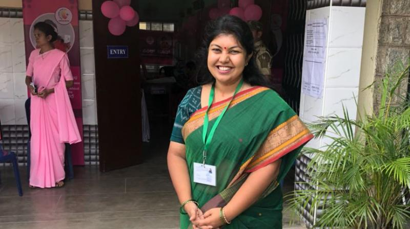 Congress candidate Sowmya Reddy defeated BJP's B N Prahlad to win the Jayanagar seat. (Photo: Twitter)