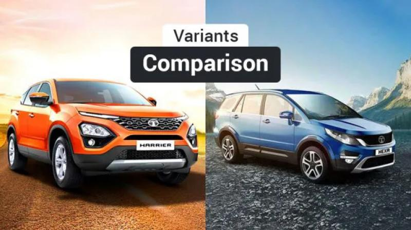 The Tata Hexa is bigger than the Harrier by every measure.