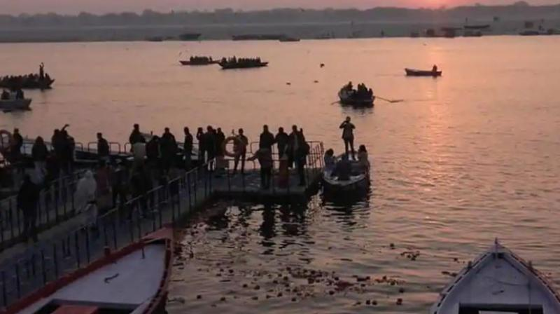 The stage is set for the commencement of the much-publicised 49-day Kumbh Mela with its first official bathing of Makar Sankranti on Tuesday to be undertaken by about 1.25 crore devotees. (Photo: ANI)