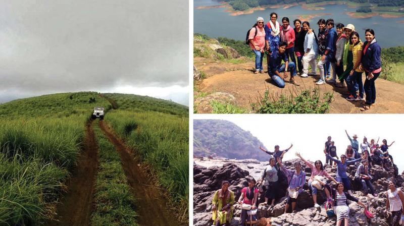 Appooppanthaadi team during their trips.