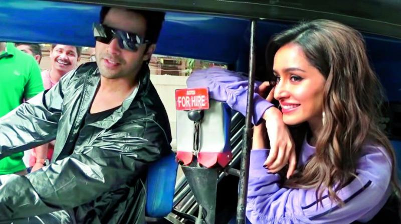 Shraddha was cool and smiling, up until Varun, who had earlier turned on the ignition, decided to drive.