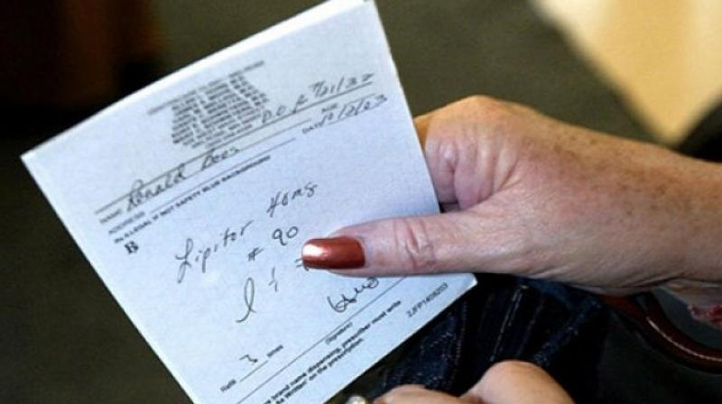 In view of the criticism, some doctors have started giving computerised prescriptions to their patients (Photo: AFP)