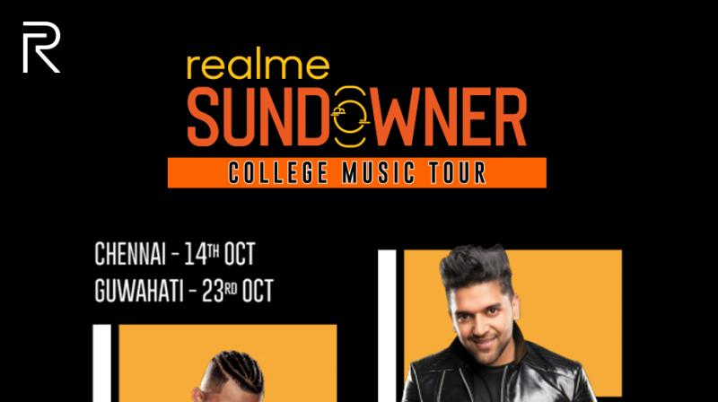 "The ""realme Sundowner"" event will have celebrities like Guru Randhawa and Divine perform in 4 cities"