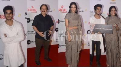 Ishaan Khatter and Malavika Mohanan attended a special screening of their film 'Beyond the Clouds' with director Majid Majidi's in the city last night. See photos from the event here. (Pictures: Viral Bhayani)