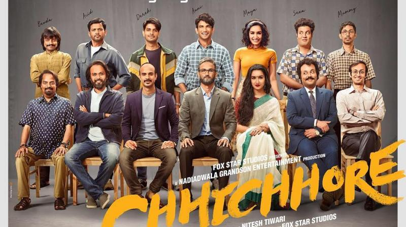 Chhichhore poster featuring the entire cast.