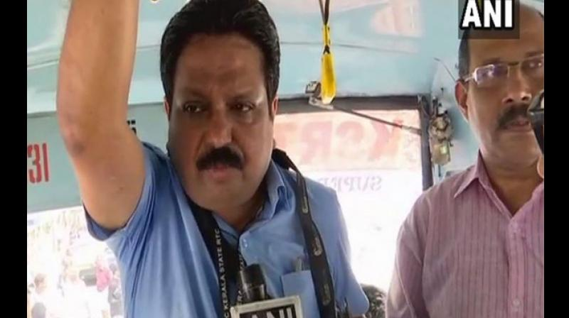 Kerala State Transport Corporation (KSTC) MD TJ Thachankary said, 'it'll also give me an opportunity to interact with commuters.' (Photo: ANI)