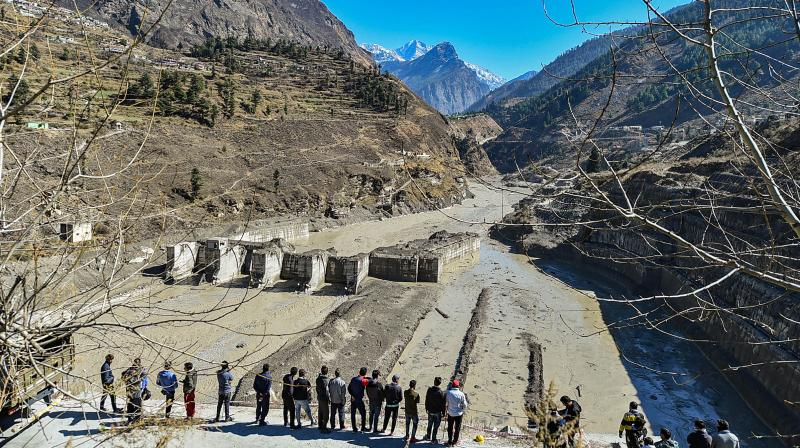 Melting glaciers are the clearest signs of climate change, and since this event took place outside the monsoon period, it is safe to assume human intervention was a causative factor. (PTI /Arun Sharma)