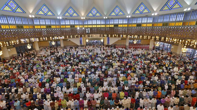 Eid al-Fitr festival marks the end of the holy Muslim fasting month of Ramadan. (Photo: AFP)