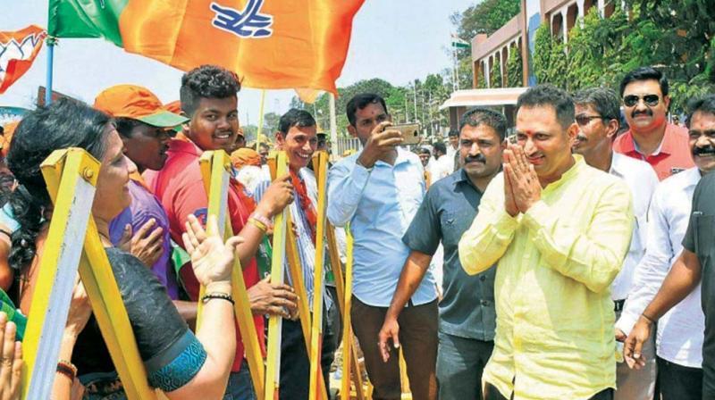 A file photo of BJP candidate Ananthkumar Hegde campaigning in Uttara Kannada