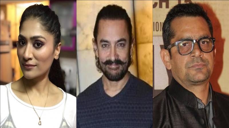 Geetika Tyagi, Aamir Khan and Subhash Kapoor. (Photo: Instagram)