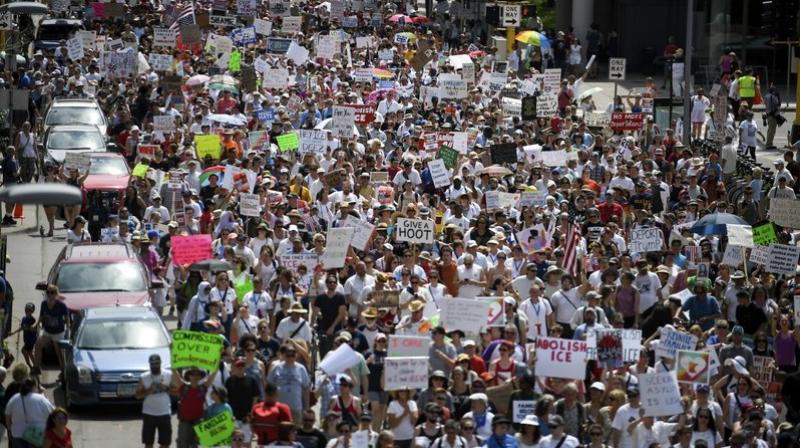 Protesters flooded more than 700 marches, from immigrant-friendly cities like New York and Los Angeles to conservative Appalachia and Wyoming. (Photo: AP)