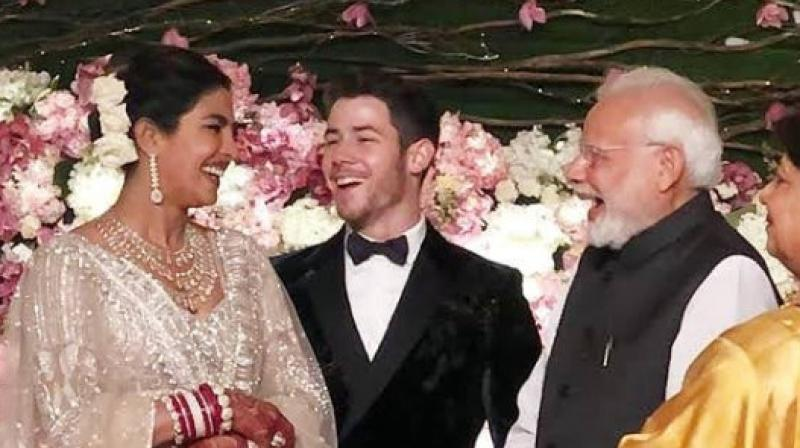 PM Narendra Modi at Priyanka and Nick's wedding reception in Delhi. (Courtesy: Instagram)