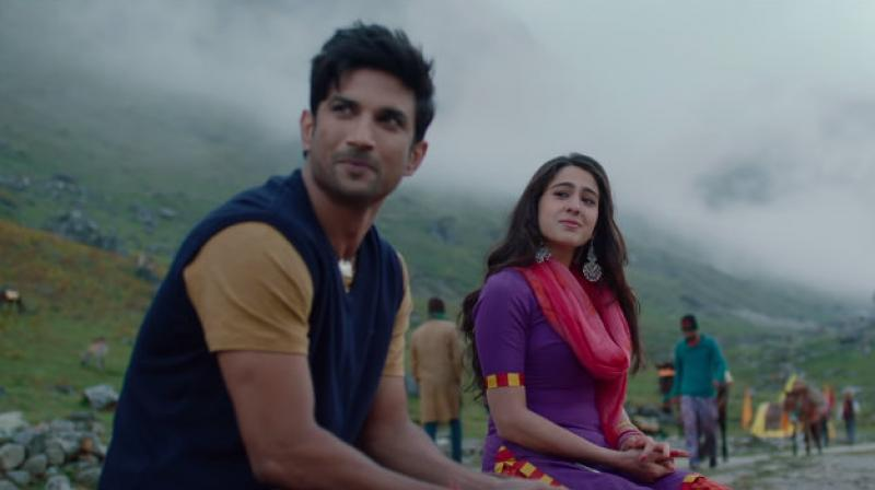 Sushant Singh Rajput and Sara Ali Khan in the still from Kedarnath. (Courtesy: YouTube/ RSVP Movies)