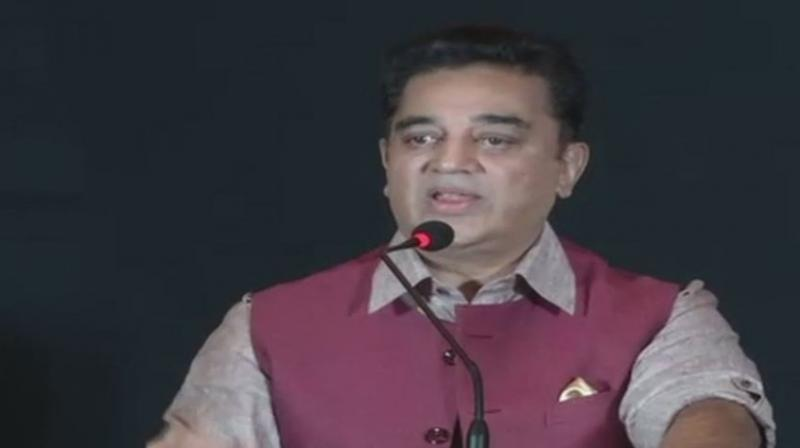 Veteran Tamil actor Kamal Haasan, on his 63rd birthday on Wednesday, announced that the work on his political party is in progress. (Photo: ANI | Twitter)