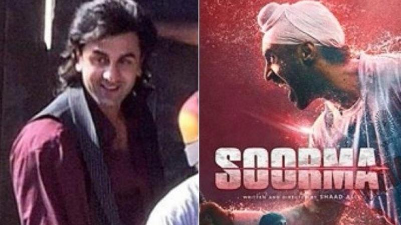 Ranbir Kapoor in Dutt biopic, Diljit Dosanjh in 'Soorma.'