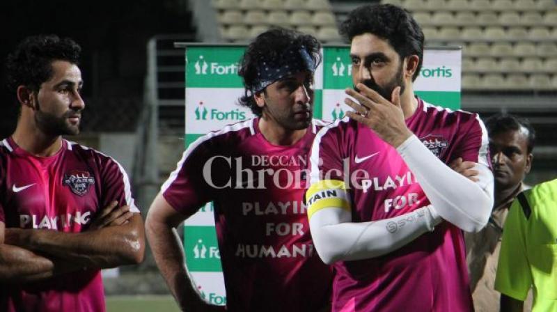 Abhishek Bachchan, Ranbir Kapoor and Aadar Jain.