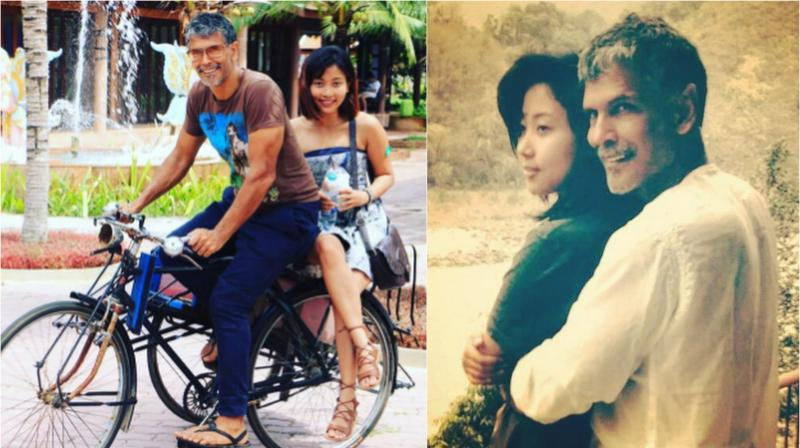 Milind Soman and his much younger girlfriend Ankita Konwar.